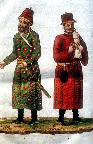 Two Tartars, Chinese engraving, 1812