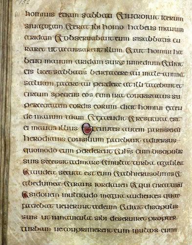 The Lichfield Gospels otherwise known as the Chad Gospels or Book of Chad, 720-730 AD  page 152