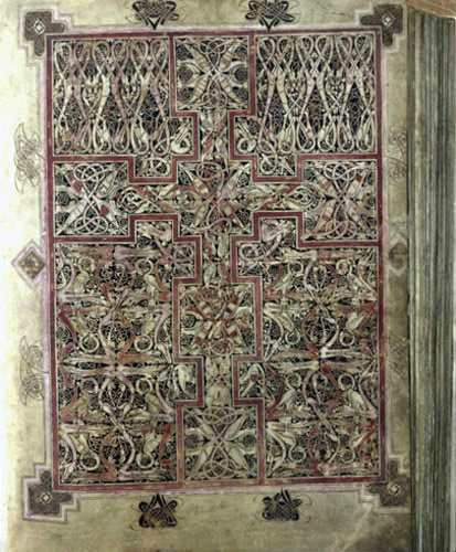 Lichfield Gospels, 720-730, insular gospel book, also known as Chad Gospels or Book of Chad, carpet page, Lichfield Cathedral, Staffordshire, England