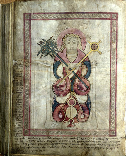 The Lichfield Gospels otherwise known as the Chad Gospels or Book of Chad, 720-730 AD,  St Luke  page 218
