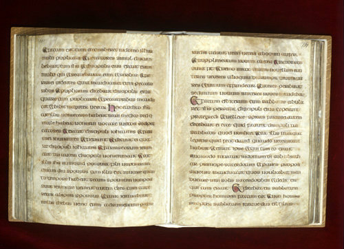 The Lichfield Gospels otherwise known as the Chad Gospels or Book of Chad, 720-730 AD pages 150-151