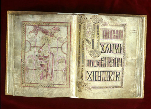 The Lichfield Gospels otherwise known as the Chad Gospels or Book of Chad, 720-730 AD