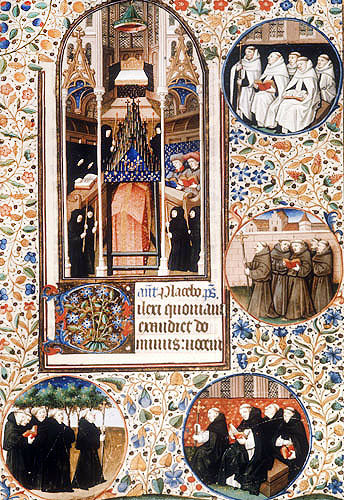 Monastic orders, fifteenth century, from Book of Hours, ms latin 1176, Bibliotheque Nationale, Paris, France