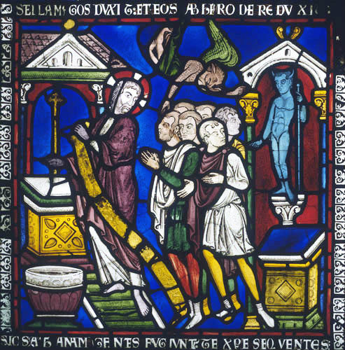 Christ and the Pagan Gods, Poor Mans Bible window no 1 panel