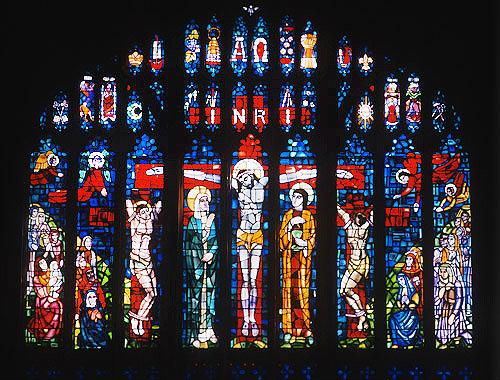 Crucifixion, twentieth century, by Evie Hone, Eton College, Berkshire, England