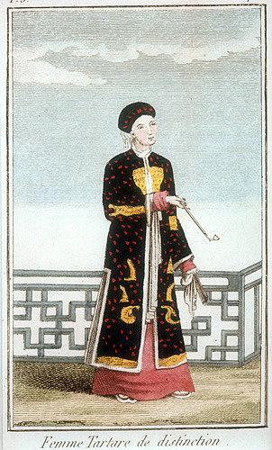 Tartar woman of distinction,  frontispiece engraving for La Chine en miniature, 1811, volume III, by Jean Baptiste Joseph Breton de la Martiniere