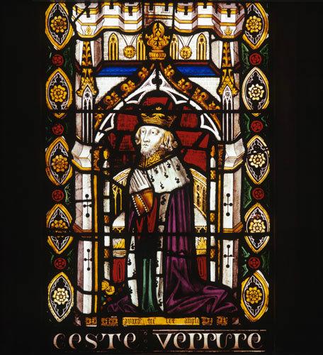 King Edward III from 14th century  Jesse window, St Marys Church Shrewsbury