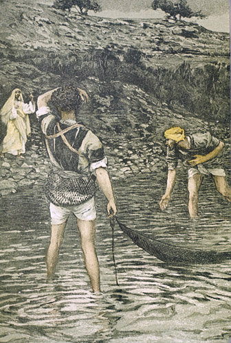 Calling of Peter and Andrew painting by James Tissot 19th century