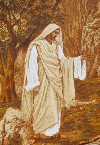 Jesus saying come with me to a quiet place and rest Mark 6 v 31, 19th century painting by James Tissot, Great Britain
