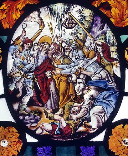 Betrayal, seventeenth century Flemish roundel, St Mary