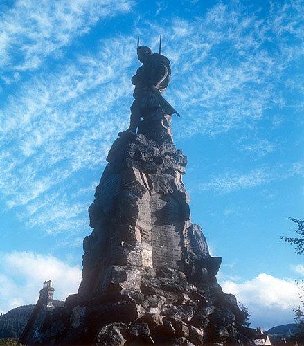 Black Watch, Highland regiment, memorial sculpture, Aberfeldy, Perthshire, Scotland