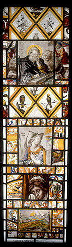 Libyan Sibyl, circa 1630, one of ten sybils by Bernard Van Linge, Wroxton Abbey, Oxfordshire, England