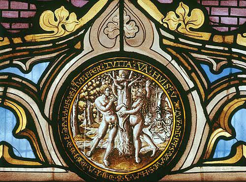 Adam and Eve, seventeenth century Flemish panel, St Mary