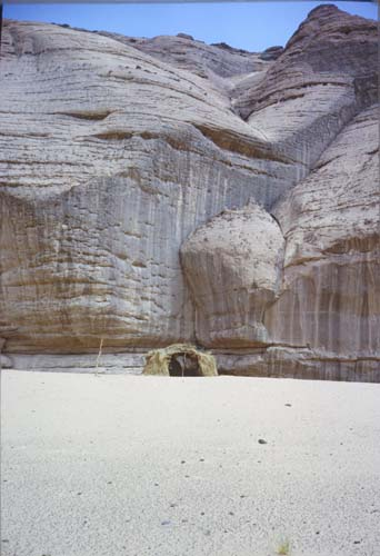 Tuareg tent in the Acacus mountains, Libya
