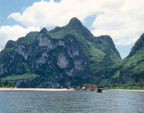 China Li River, Li Kiang, and limestone karst landscape