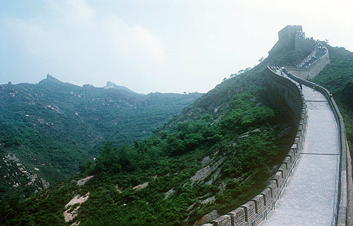 The Great Wall, built eighth to twentieth century of stone, soil, sand and brick, China