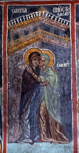 Visitation, 1513AD, Church of St Sozomenus, Galata, Cyprus