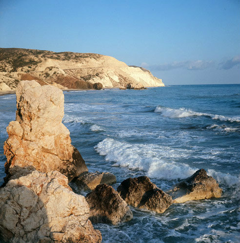 Cyprus bay near Paphos where Aphrodite rose from the water