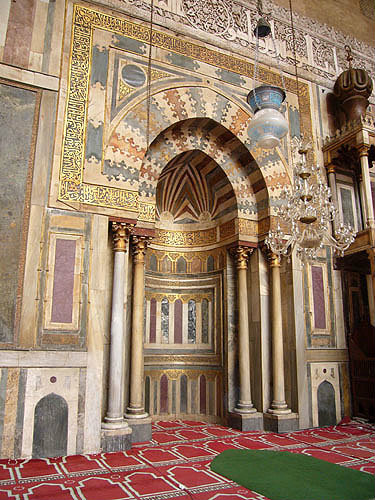 Mihrab in Mosque of Sultan Hassan, Cairo, Egypt