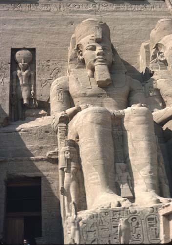 Ramesses, seated statue of pharaoh, Temple of Karnak, Luxor, Egypt