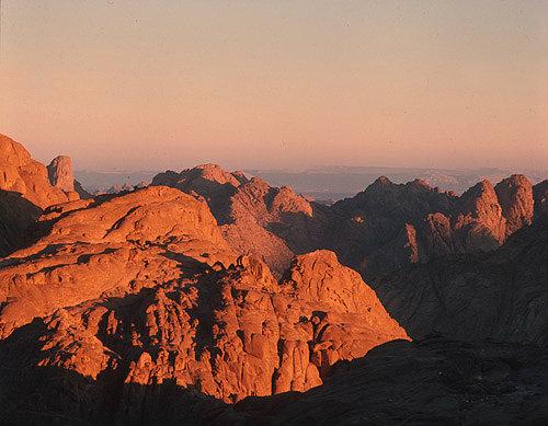 Mount Sinai at sunrise, Egypt