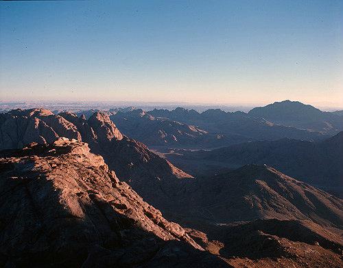 Sinai Mountains at sunrise, Egypt