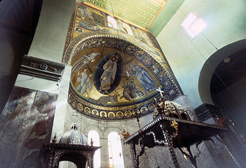 Transfiguration, mosaic in apse, St Catherine