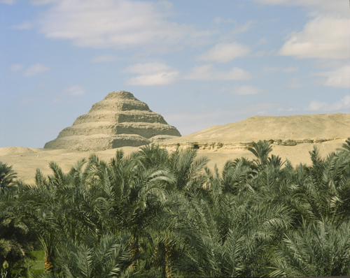 Stepped pyramid of Djoser, first king of the 3rd dynasty, 2686 BC, built by architect Imhotep at Sakkara, Egypt