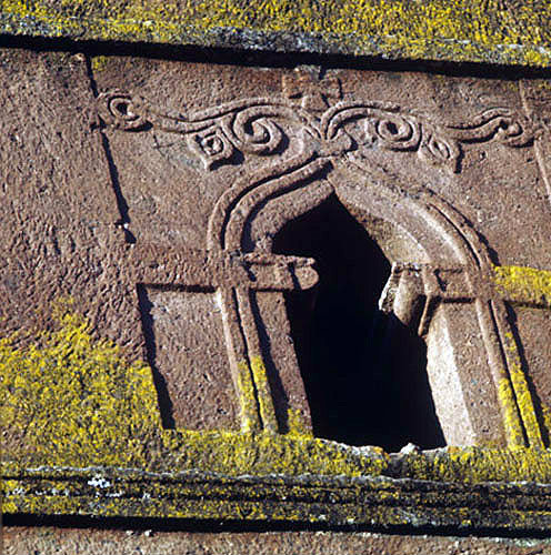 Ethiopia lalibela carving of window on st george s church