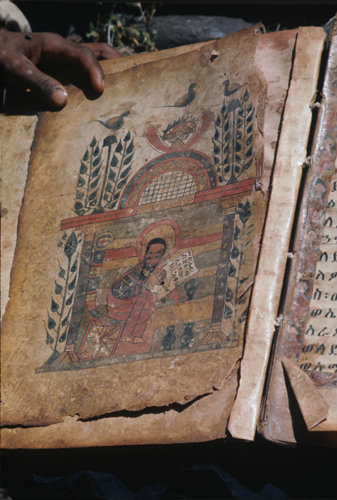 Ethiopia Lake Tana Monastery Island Dagistefanos Church manuscript