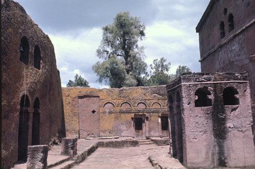 Ethiopia Lalibela, rock-cut church, 12th or 13th century