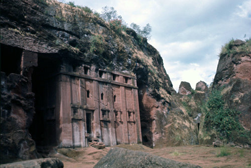 Ethiopia Lalibela rock-cut church of Abba Libanos