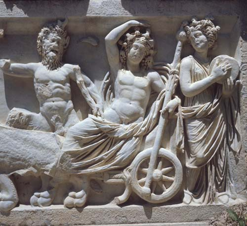 Triumph of Dionysus, 2nd century relief sculpture, Perge, Turkey