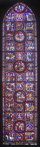 St Martin window, number 24, thirteenth century, Chartres Cathedral, Chartres, France