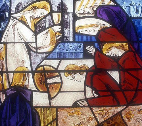 Eucharist by Gabriel Loire, 1975, Coignieres Church, Yvelines, France
