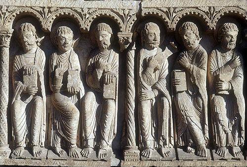 Six Apostles, central bay, Royal Portal, Chartres Cathedral, France