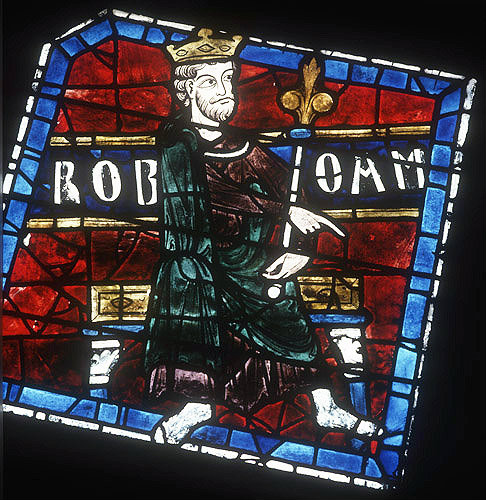 Rehoboam, detail from the north Rose, thirteenth century, Chartres Cathedral, Chartres, France