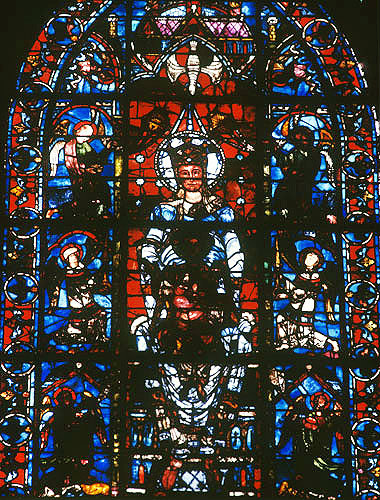La Belle Verriere, twelfth and thirteenth century, Chartres Cathedral, France