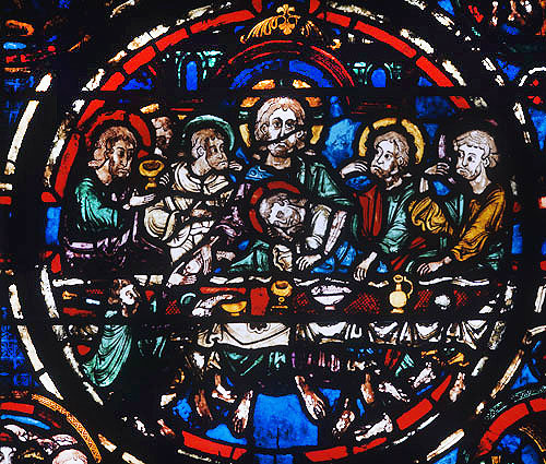 Last Supper, thirteenth century, Bourges Cathedral, France