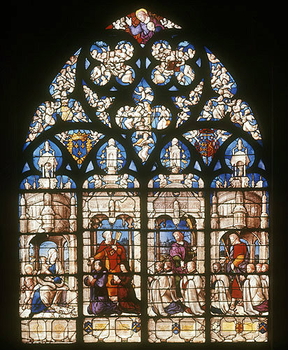 France, Bourges Cathedral, the Tullier window by Jean Liquier, 16th century