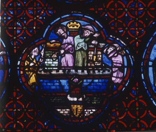 Rich Mans window, 13th century stained glass, Bourges Cathedral, France