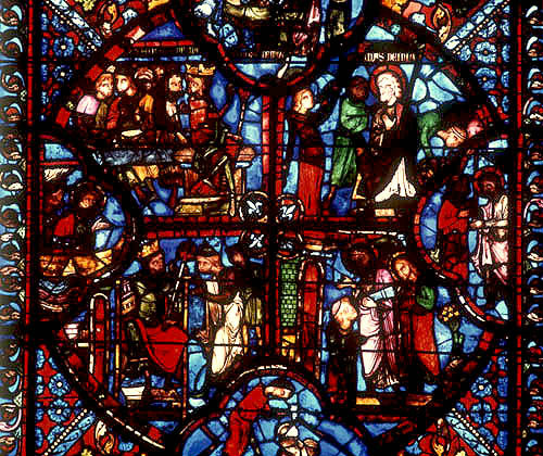 St Thomas window, detail, thirteenth century, Bourges Cathedral, France
