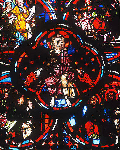 Apocalypse, Christ on throne of Judgement, thirteenth century, Bourges, France
