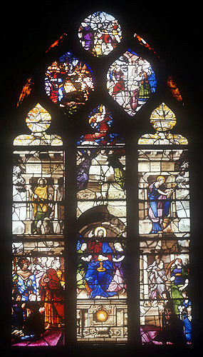 Eucharist, sixteenth century, church of  Sainte Foy, Conches, France