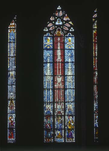 Apostle window, 14th century stained glass, Chapel of St Catherine, Strasbourg Cathedral, France
