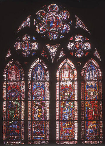 France, Strasbourg Cathedral, kings and emperors from the Holy Roman Empire, 12th-13th century, 2nd window from east, north aisle