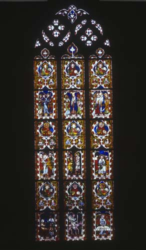 Passion Window, 14th century stained glass, St Lawrence Chapel, Strasbourg Cathedral, France