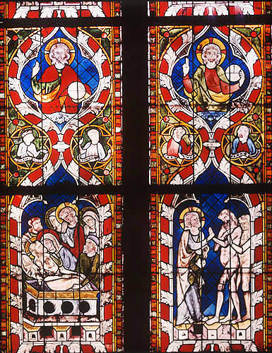Resurrection window, detail, chapel of St Lawrence, Strasbourg Cathedral, France