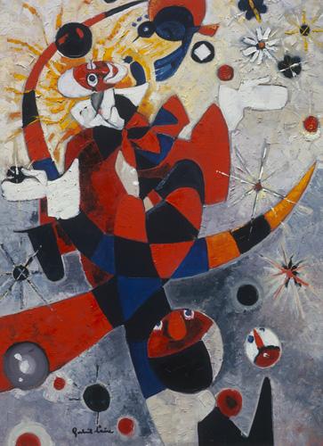 Clown painting by Gabriel Loire
