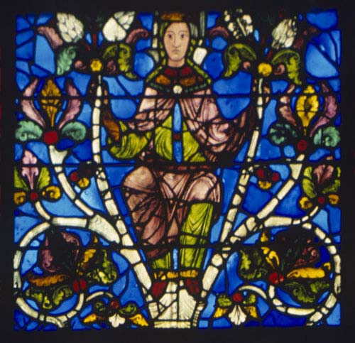 Jesse window, 12th century stained glass, Chartres Cathedral, France